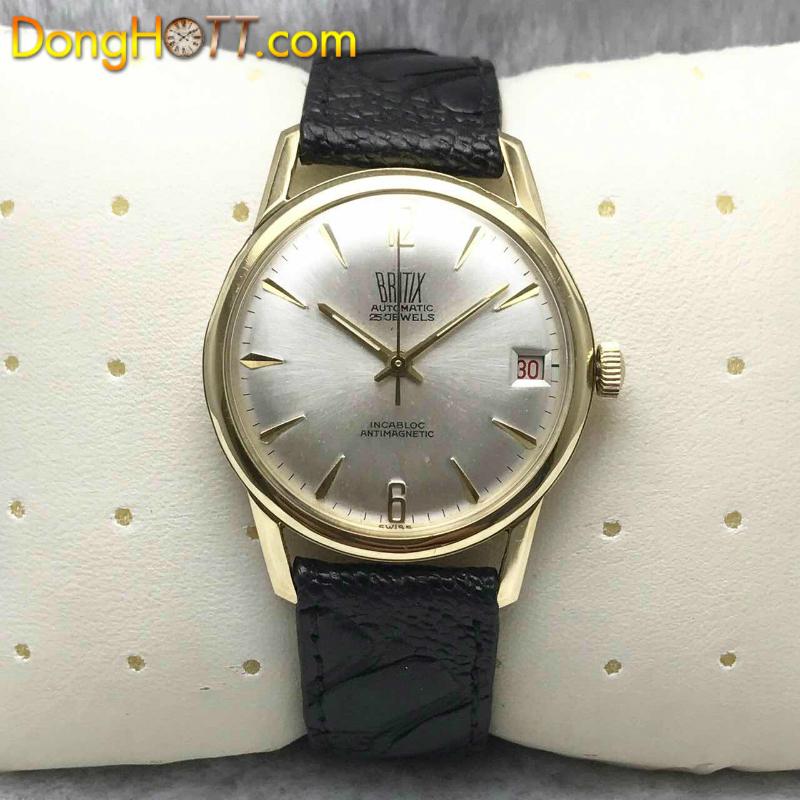 Đồng hồ cổ BRITIX Automatic 25 jewels vàng đúc 18k đặc nguyên khối chính hãng Thuỵ Sĩ