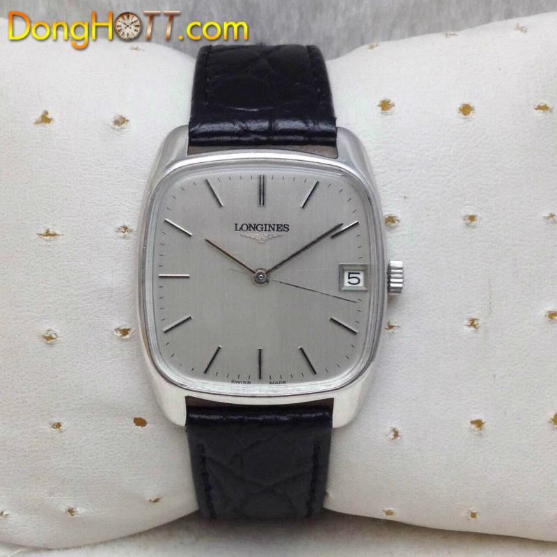 Đồng hồ cổ LONGINES Vuông lên dây Inox chính hãng Thuỵ Sĩ